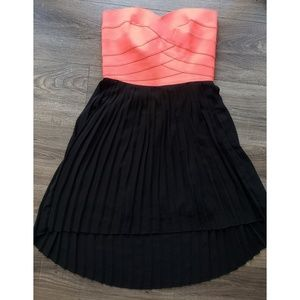 Coral pink high low dress